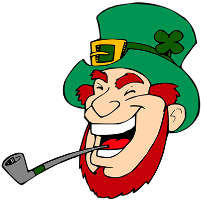 graphic freeuse library Leprechaun clipart. Laughing.