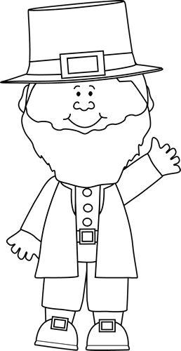 png free Clip art image. Leprechaun clipart black and white
