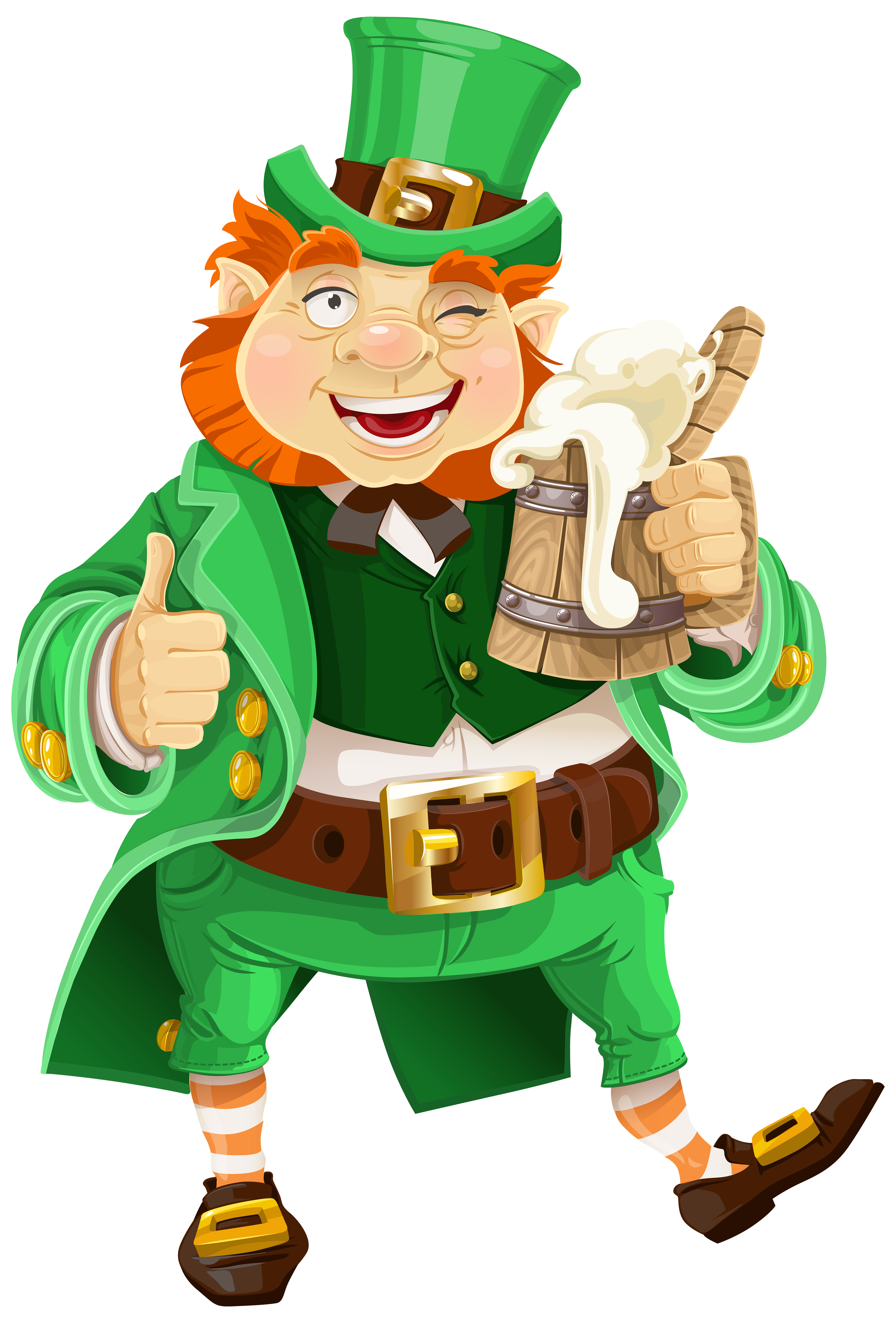 picture royalty free St patricks day with. Leprechaun clipart cartoon.