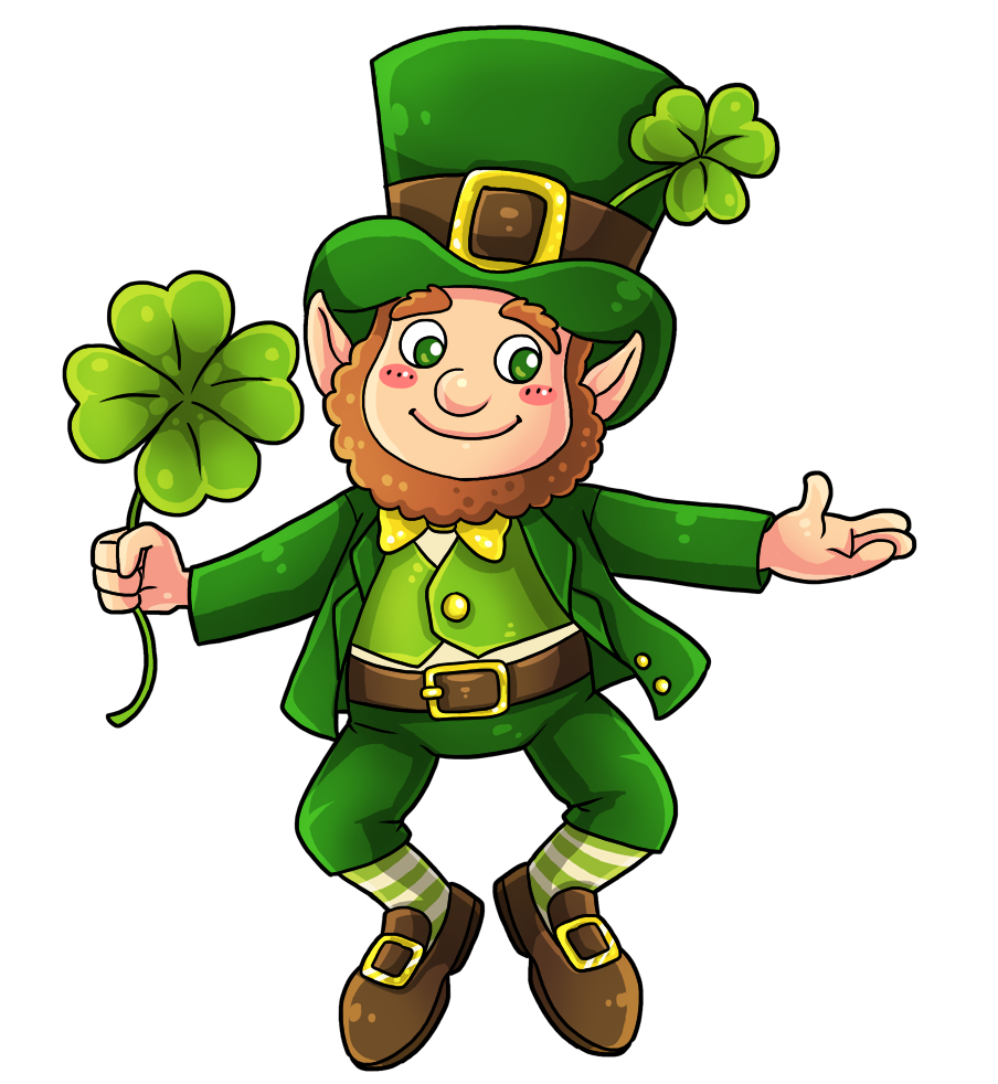 jpg black and white download This cute and adorable. Leprechaun clipart.