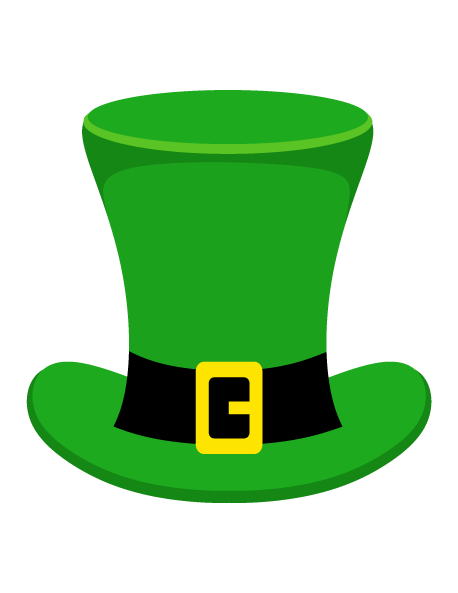 clip transparent library Leprechaun hat clipart black and white. Printable photo booth prop