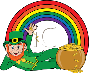 vector freeuse library Leprechaun rainbow clipart. Pin on st paddy.