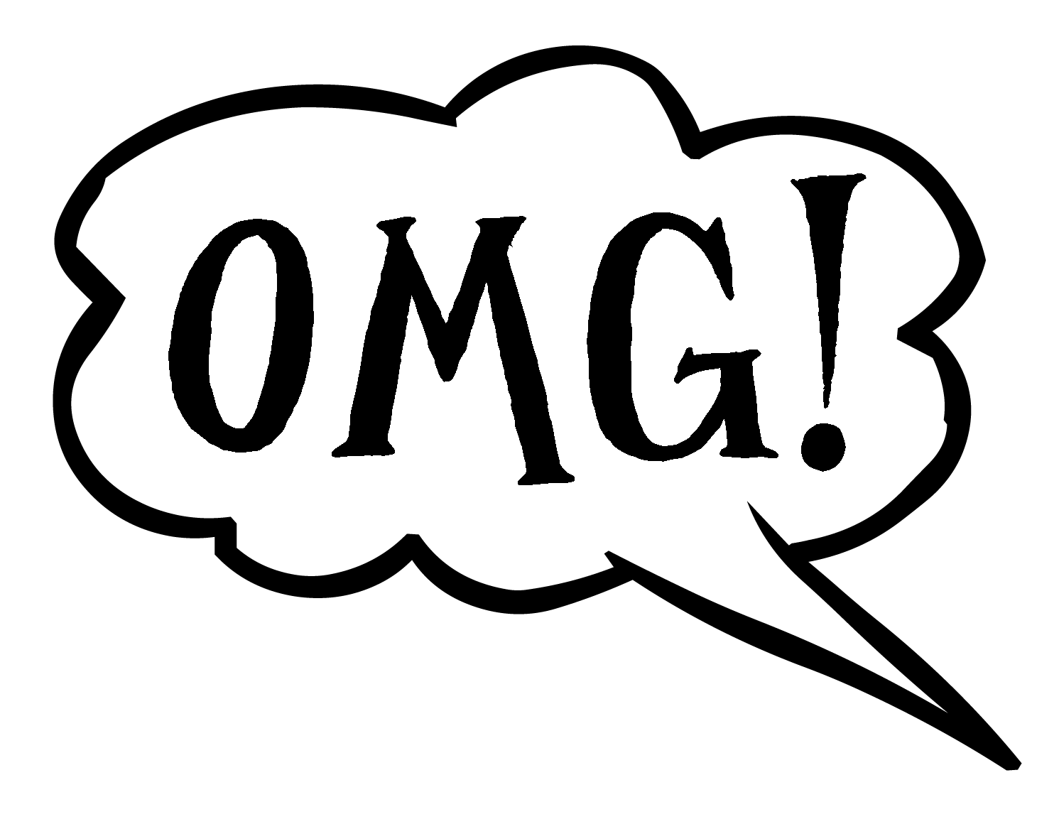 download Speech with oops sentiment. Letter clipart bubble.