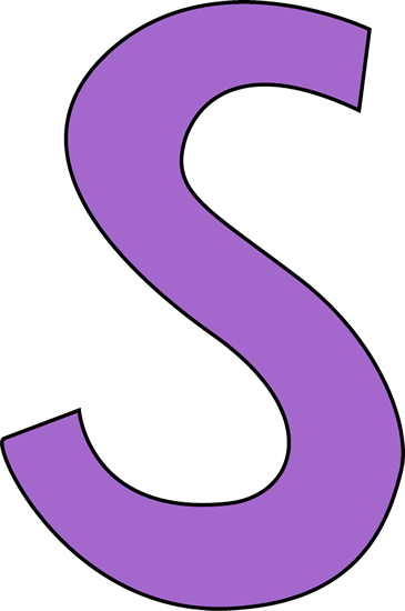 png royalty free library Purple letter clip art. S clipart