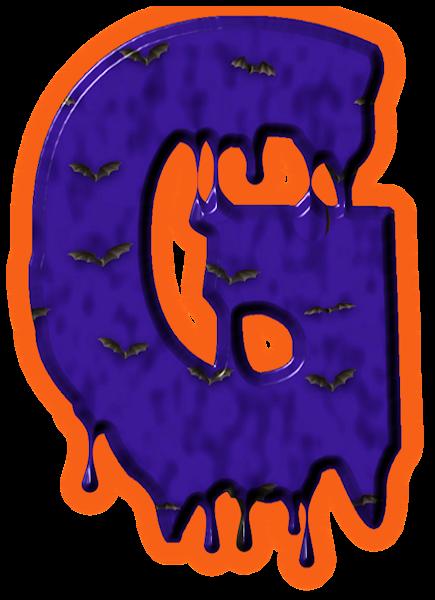 png royalty free download Alfabeto de murcielagos g. Letter clipart halloween.