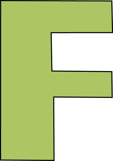 svg free Letter f clipart. Green clip art image.