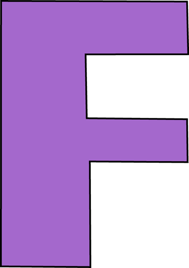 png stock Letter f clipart. Large .