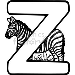 image royalty free Zebra royalty free . Letter z clipart