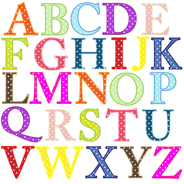 jpg black and white library Alphabet clip art free. Letters clipart.