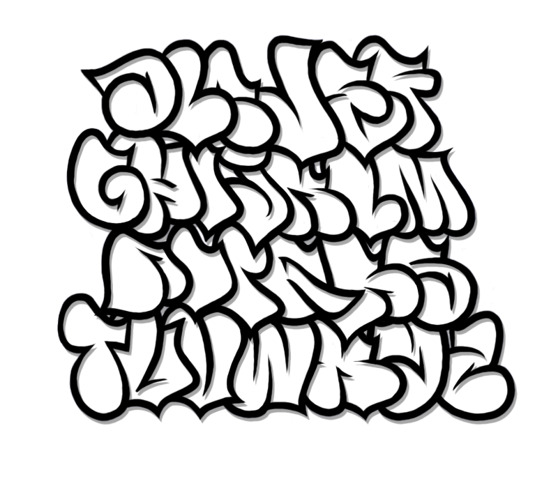 picture freeuse Drawing randomizer graffito. Bubble graffiti alphabet letter