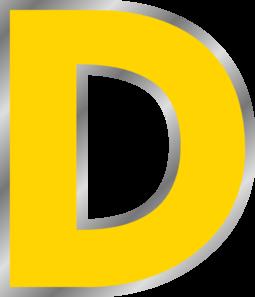 png transparent Letters clipart yellow. Letter d clip art.