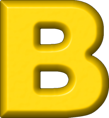 graphic Letter b png images. Letters clipart yellow.