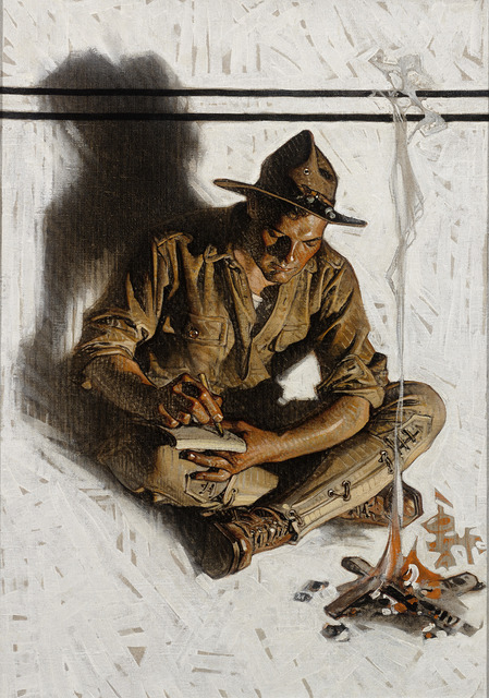 image freeuse library Joseph christian s letter. Leyendecker drawing soldier