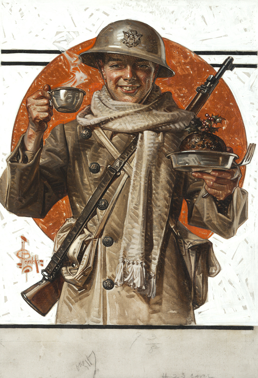jpg royalty free download Leyendecker drawing soldier. A s thanksgiving by