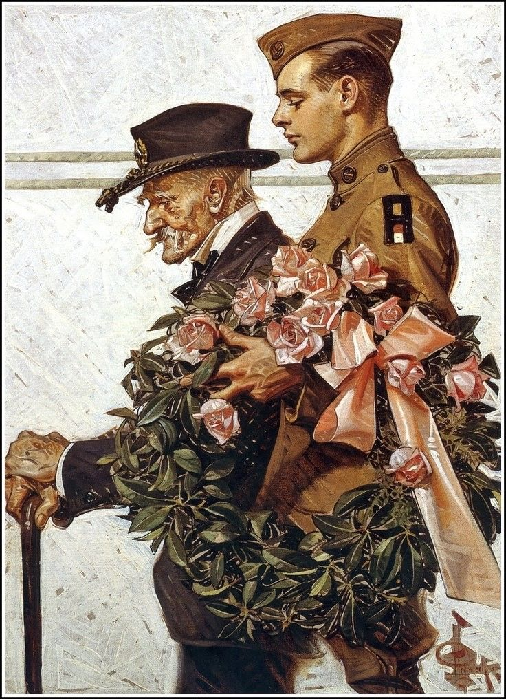 picture freeuse library Leyendecker drawing soldier. J c civil war