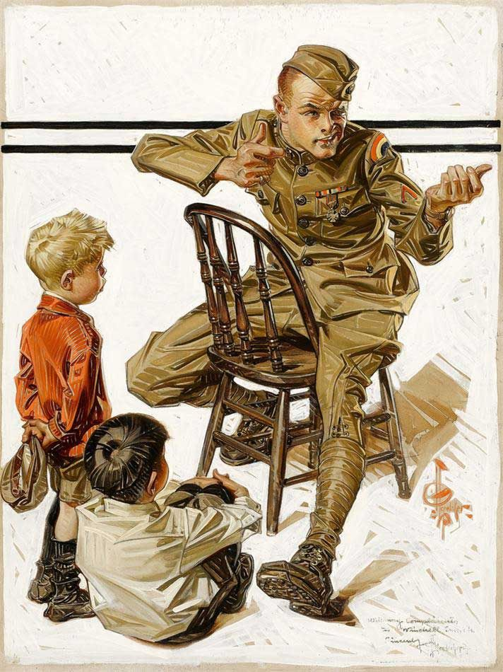 picture freeuse Leyendecker drawing soldier. Pin on wicked art