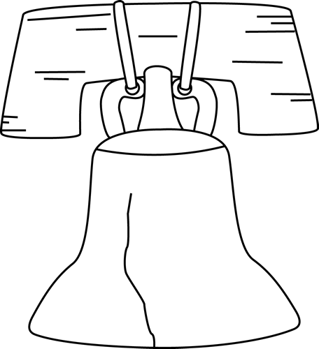 picture transparent stock Liberty bell clip art. President clipart black and white