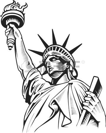 vector freeuse  statue of clipartlook. Liberty clipart.