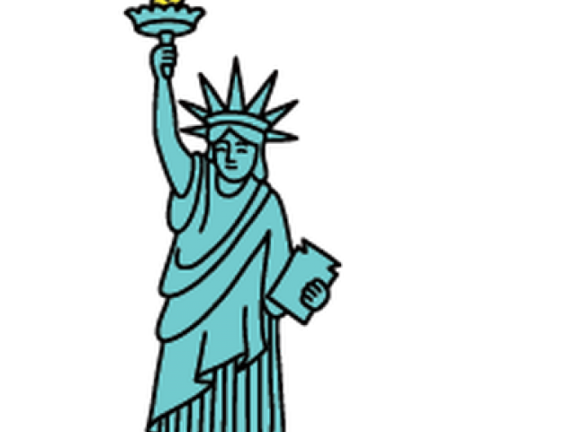 svg freeuse download Statue of free on. Liberty clipart.