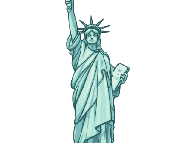 svg freeuse library Liberty clipart. Statue of vector free.