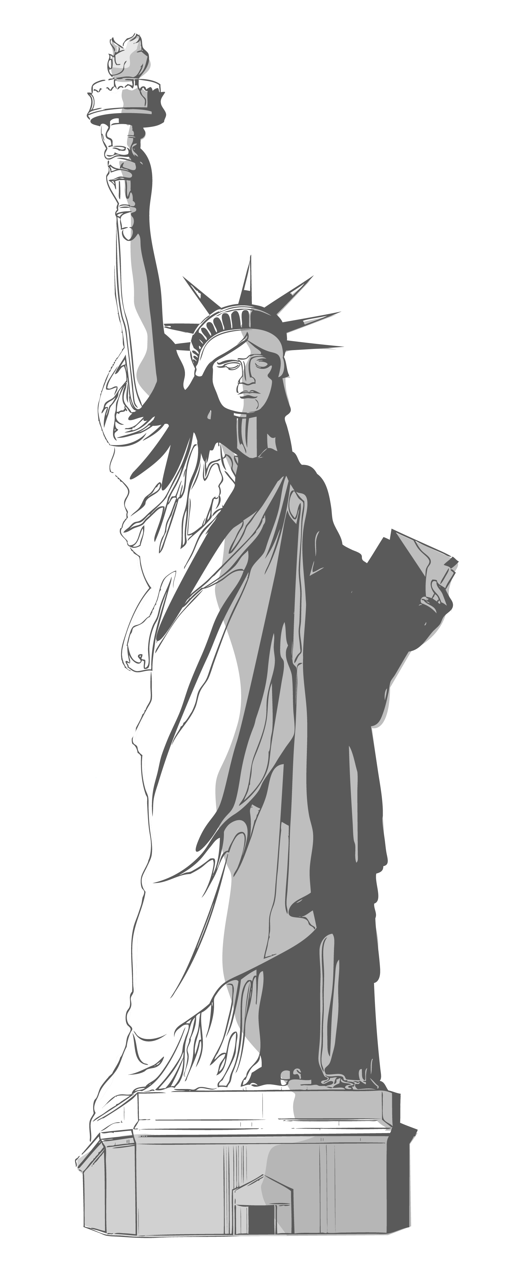 vector black and white stock Statue of png gallery. Liberty clipart.