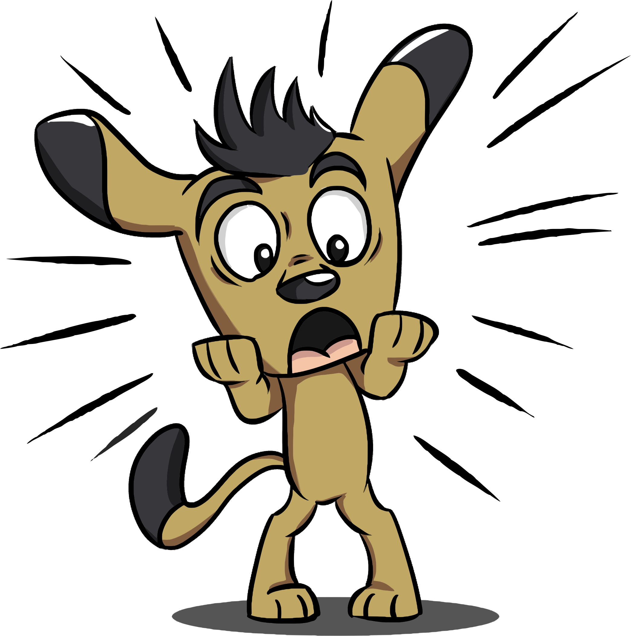 svg library Liberty clipart shocked. Surprised puppy big image.