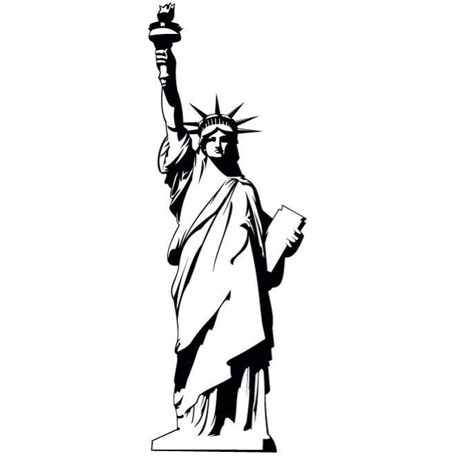 clip royalty free library Liberty clipart tattoo. Statue of vector eps.