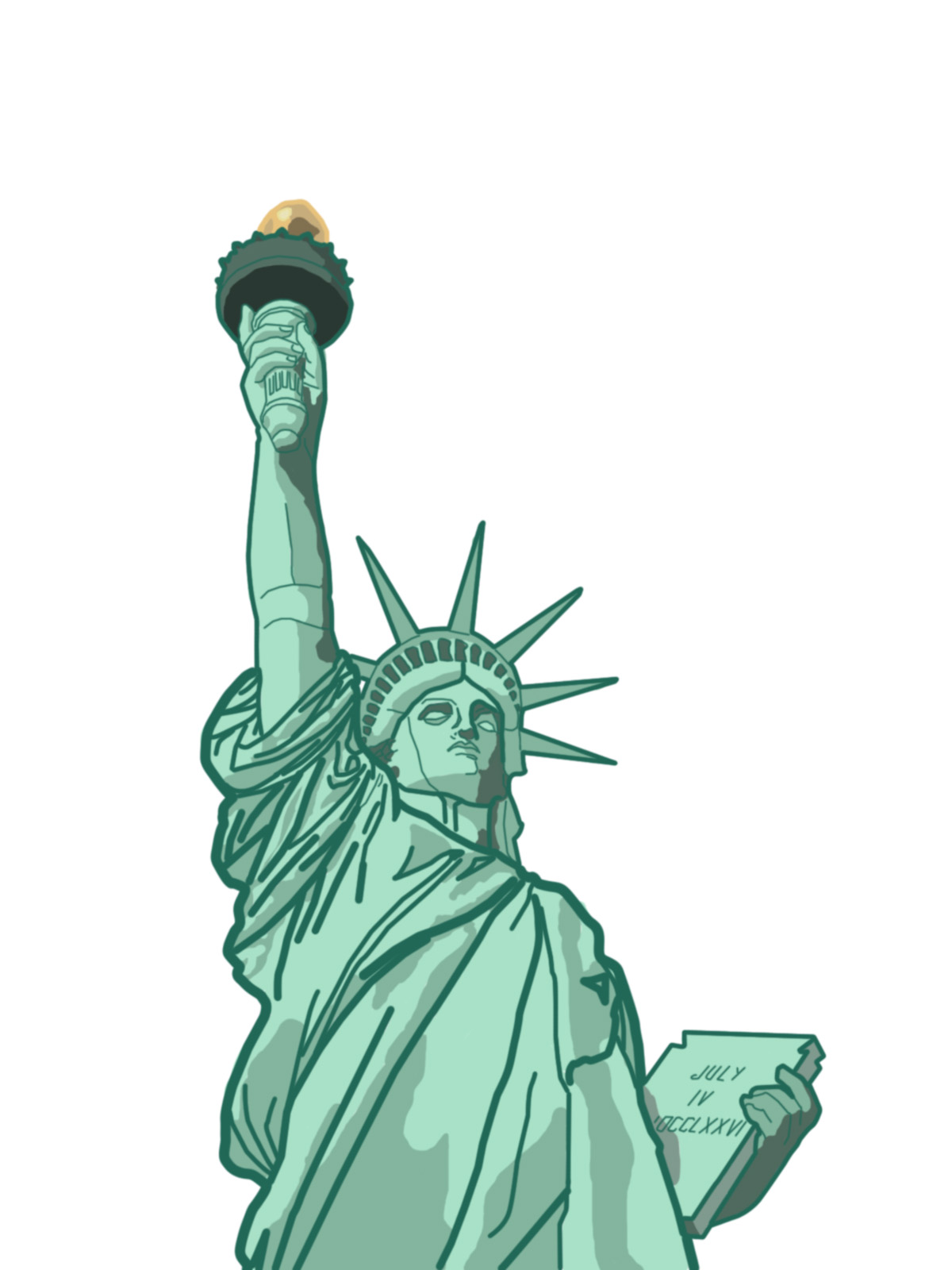 vector library download Liberty clipart tattoo. Gallery for statue of.