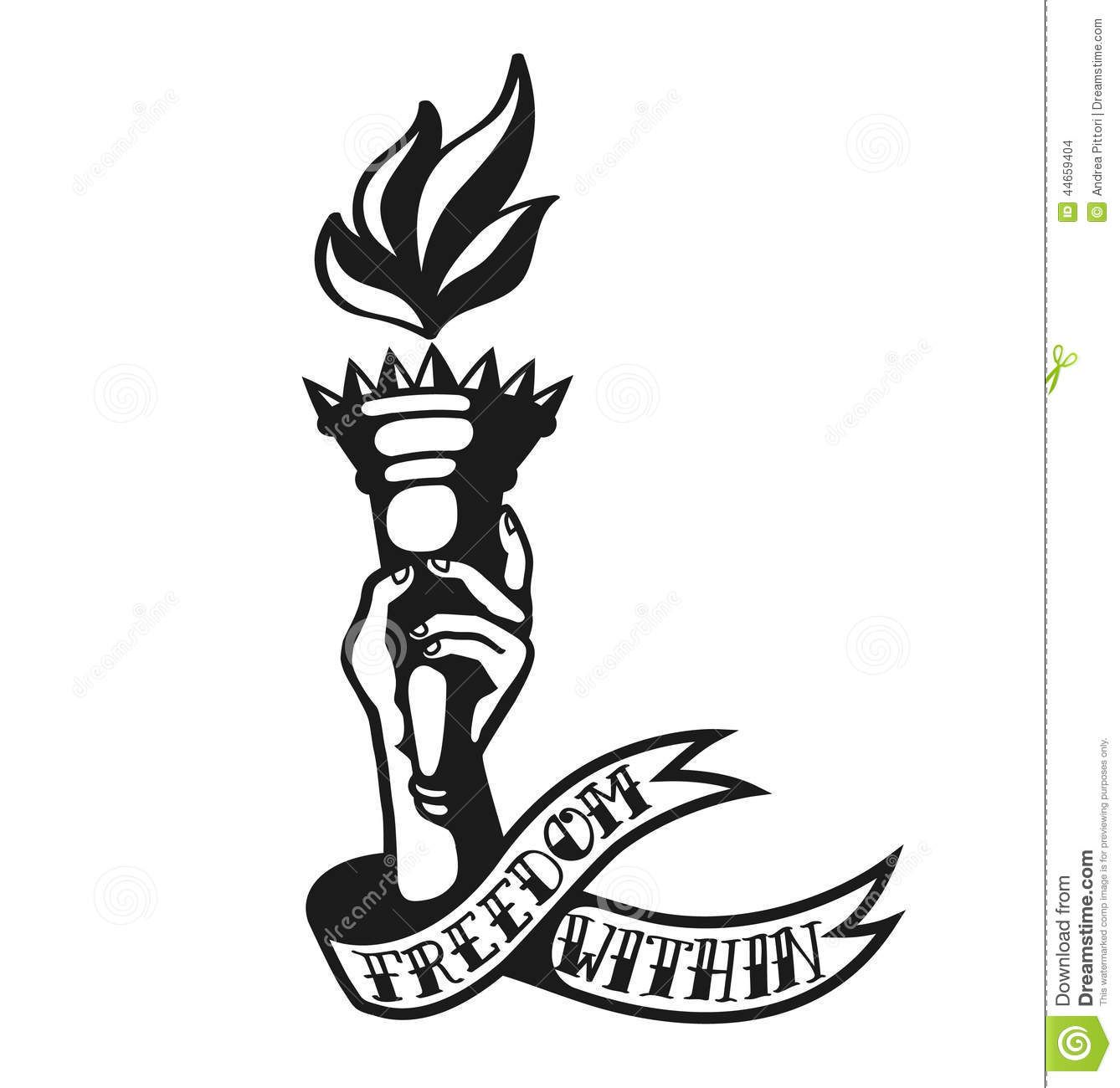 clipart transparent library Freedom within cool design. Liberty clipart tattoo.