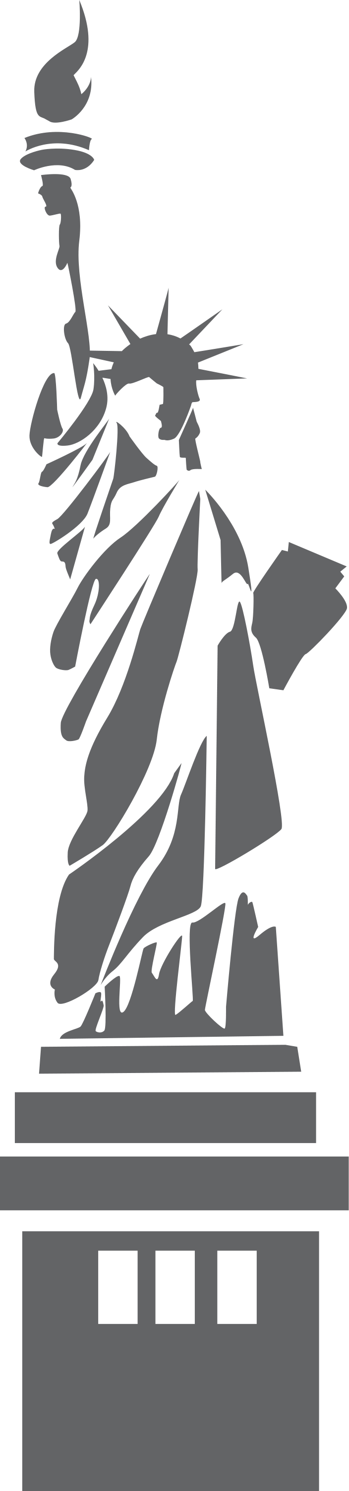 vector royalty free library Liberty clipart tattoo. Illustration of the statue.