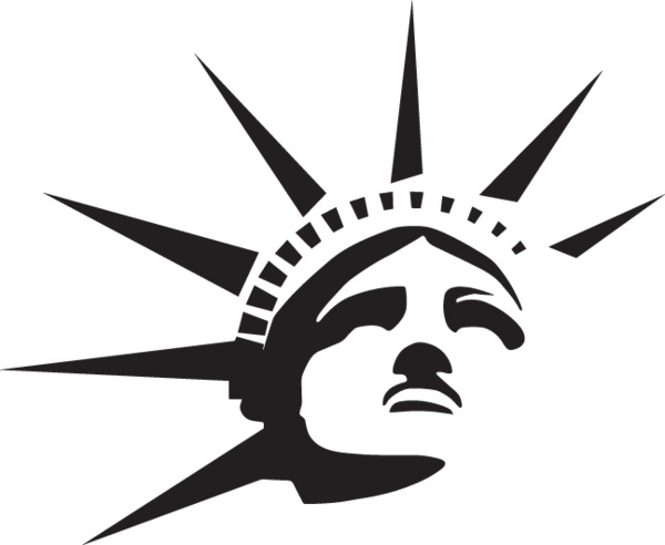 png library  ga statue of. Liberty clipart tattoo.