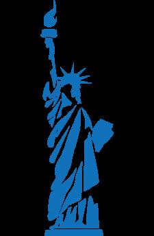 banner freeuse stock La statue de libert. Liberty clipart tattoo.