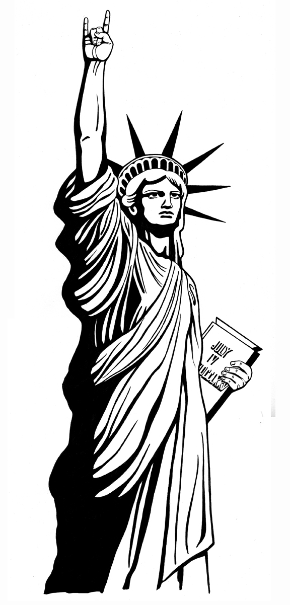 vector black and white stock Free statue of drawing. Liberty clipart tattoo.