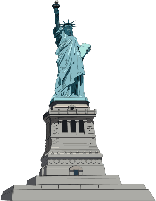 graphic transparent Statue of illustration png. Liberty clipart transparent.