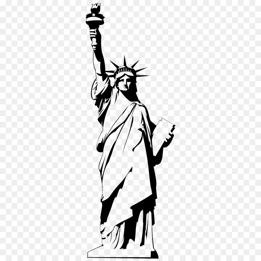 png free library Statue of cartoon hand. Liberty clipart transparent.