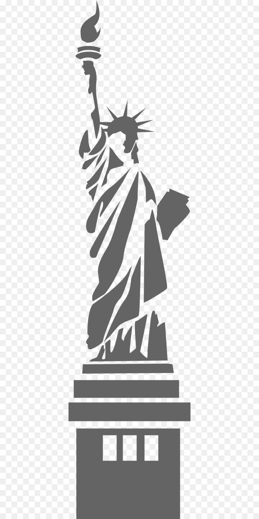 picture library download Liberty clipart transparent. Statue of cartoon illustration.
