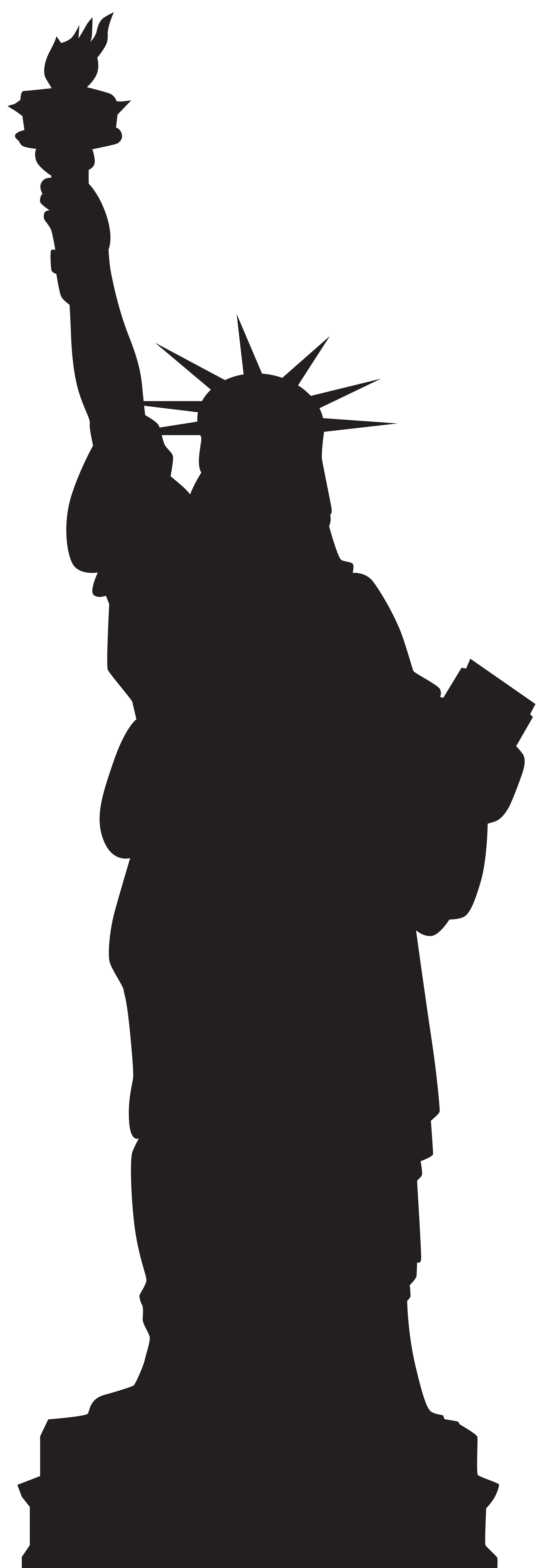 free Liberty clipart transparent. Statue of silhouette png.