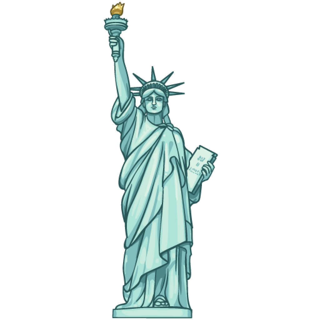 graphic transparent download  collection of statue. Liberty clipart transparent.