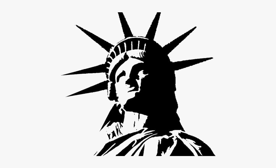 clip royalty free stock Liberty clipart transparent. Statue of white background.