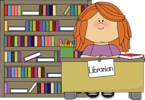 picture black and white stock Librarian clipart. Library girl classroom clip