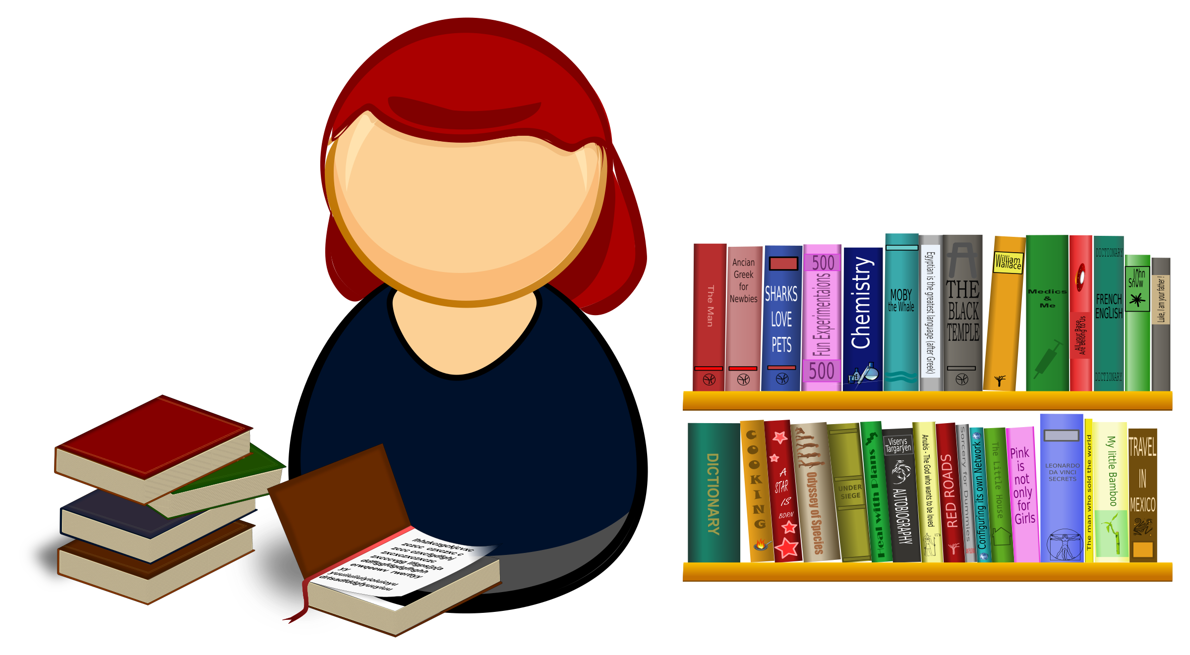 svg download Librarian clipart. Big image png