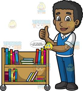 graphic download Librarian clipart messenger. A black male pushing.