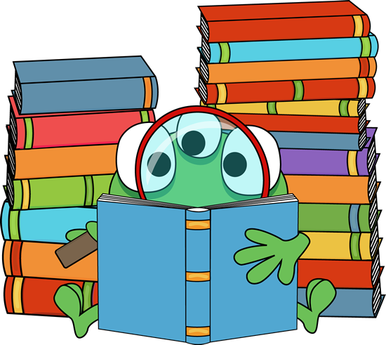 image royalty free Green Monster Reading a Book