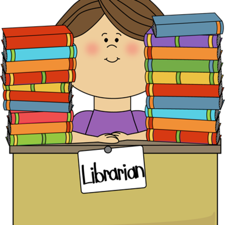 svg royalty free Librarian clipart public library. School background design child.
