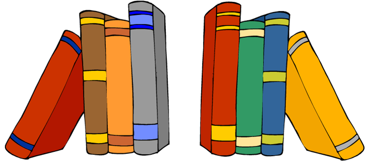 graphic black and white library Bookshelf Clipart at GetDrawings