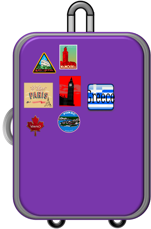 svg library stock Free Vacation Bags Cliparts