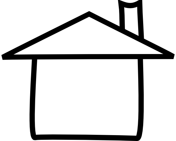 clipart black and white library House adobe clip art. Clipart black and white library.