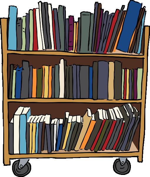 banner download Library Book Cart Clip Art at Clker
