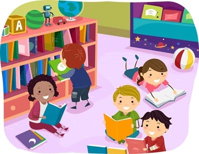 vector download Library clipart for kids. Early literacy fayetteville free