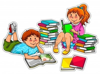 image transparent download Group of reading clip. Library clipart for kids